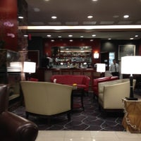 Photo taken at Club Quarters Hotel, opp Rockefeller Center by Rebecca B. on 4/1/2012