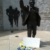 Photo taken at Joe Paterno Statue by Kurt S. on 7/15/2012