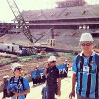 Photo taken at Construção da Arena do Grêmio by Rafael M. on 5/26/2012