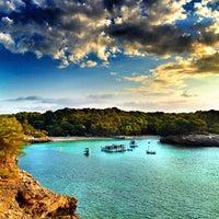 Photo taken at Cala Turqueta by Oriol on 8/26/2012