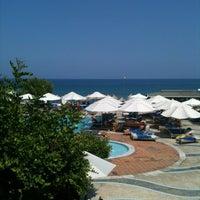 Photo taken at Creta Maris Beach Resort by Varvara Z. on 8/27/2012