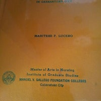 Photo taken at Manuel V. Gallego Foundation Colleges by Thess L. on 5/16/2012