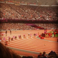 Photo taken at London Stadium by Cath R. on 9/6/2012