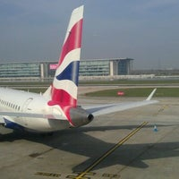 Photo taken at London City Airport (LCY) by Derek C. on 3/23/2012