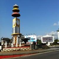 Photo taken at Bundaran Gajah (Tugu Adi Pura) by Citrani E. on 8/21/2012