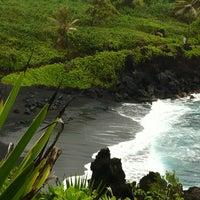Photo taken at Waianapanapa State Park by Kristin E. on 3/3/2012