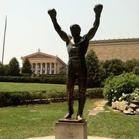 Photo taken at Rocky Statue by Alicia O. on 6/29/2012