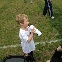 Photo taken at Edwards Soccer Field by Greg B. on 4/21/2012