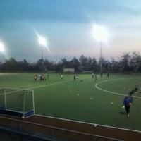 Photo taken at Canchas de entrenamiento del Estadio San Carlos de Apoquindo. by Joaquin G. on 5/29/2012