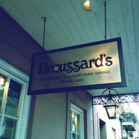 Photo taken at Broussard's Restaurant & Courtyard by David F. on 3/16/2012
