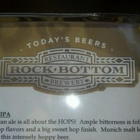 Photo taken at Rock Bottom Restaurant & Brewery by Bob G. on 8/25/2012