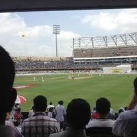 Photo taken at Rajiv Gandhi Cricket Stadium by Aditya B. on 8/23/2012