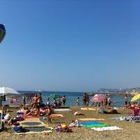 Photo taken at Spiaggia Santo Stefano Al Mare by Ale S. on 8/23/2012