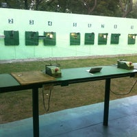 Photo taken at Shooting Range @ Siri Fort Sports Complex by Vineet G. on 2/12/2012