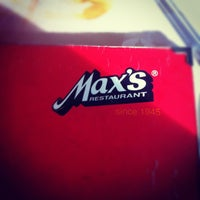 Photo taken at Max's Restaurant by Tricia N. on 2/15/2012