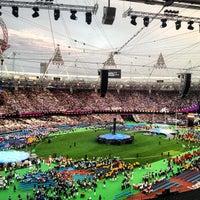 Photo taken at London Stadium by Gareth P. on 9/9/2012