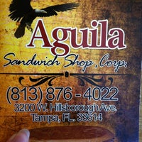 Photo taken at Aguila Sandwich Shop by F D. on 3/14/2012