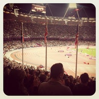 Photo taken at London Stadium by Mark W. on 9/6/2012