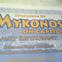 Photo taken at Mykonos Family Restaurant by Tessa P. on 7/25/2012