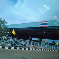 Photo taken at Thailand-Laos Friendship Bridge Immigration by Naronglert Y. on 6/25/2012