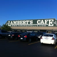 Photo taken at Lambert's Cafe by Rosi L. on 4/6/2012