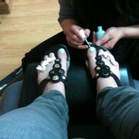 Photo taken at Pink Nail by Janine J. on 4/24/2012