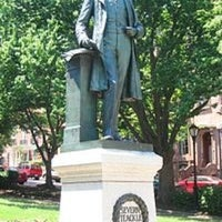 Photo taken at Severn Teackle Wallis Statue by Steven M. on 7/7/2012