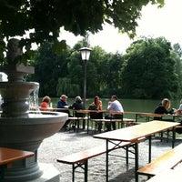 Photo taken at Seehaus im Englischen Garten by Martin E. on 6/9/2012