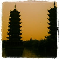 Photo taken at Guilin walking street by Frederic A. on 5/17/2012