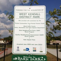 Photo taken at West Kendall Hammocks Dog Park by Pat S. on 4/12/2012