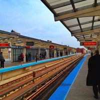 Photo taken at CTA - Belmont (Red/Brown/Purple) by Rich B. on 4/20/2012