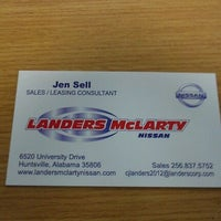 ... Photo Taken At Landers McLarty Nissan Of Huntsville By Jen S. On 4/16  ...