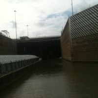 Photo taken at Greenup Lock And Dam by Matt B. on 9/1/2012