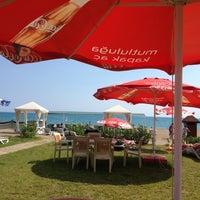 Photo taken at Kadriye Beach Park by Koray G. on 8/5/2012