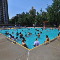 Photo taken at Dry Dock Playground & Pool by NYC Parks on 7/3/2012
