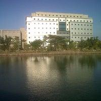 Photo taken at University of Airlangga, Campus C - Park & Lake by Detta P. on 8/17/2012
