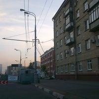 "Photo taken at Остановка автобуса ""3-я Хорошевская ул."" (маршрут 39) by Andrey V. on 8/3/2012"