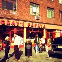 Photo taken at Gray's Papaya by Dan B. on 3/18/2012