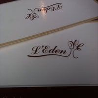 Photo taken at L'Eden Cafe by Nathan B. on 8/23/2012