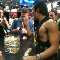 Photo taken at Official Spike Booth at Comic-Con by Tina T. on 7/12/2012