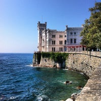 Photo taken at Castello di Miramare by Davide F. on 8/5/2012