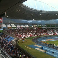Photo taken at Olympic Stadium (Engenhão) by Henrique N. on 7/8/2012