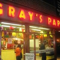 Photo taken at Gray's Papaya by Yusri Echman on 7/20/2012