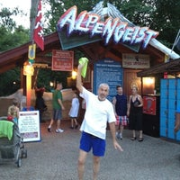 Photo taken at Alpengeist - Busch Gardens by Tom on 7/14/2012