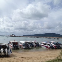Photo taken at Chalong Bay Pier by kugolf2004 on 4/30/2012