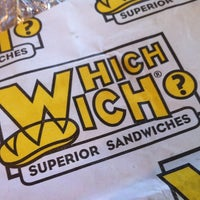 Photo taken at Which Wich? Superior Sandwiches by Kevin A. on 5/25/2012