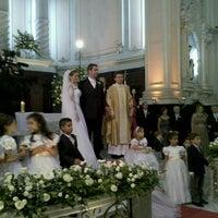 Photo taken at Igreja Matriz Santa Margarida Maria by Marta S. on 4/14/2012