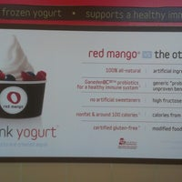 Photo taken at Red Mango by marqsean on 8/11/2012