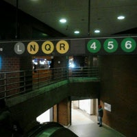 Photo taken at MTA Subway - 14th St/Union Square (4/5/6/L/N/Q/R/W) by 0zzzy on 3/27/2012