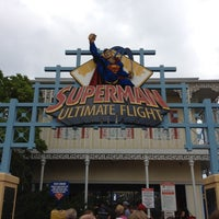 Photo taken at Superman: Ultimate Flight by joe on 9/2/2012
